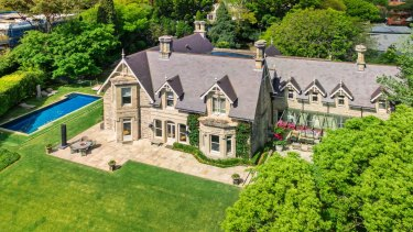 The Victorian Rustic Gothic mansion Rona in Bellevue Hill.