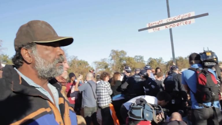 Protest action in the Kimberley.
