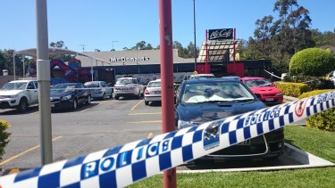 The shooting unfolded at the Helensvale McDonald's.