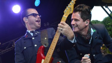 Kirk Pengilly of INXS (left) reportedly misses being able to slap women's bottoms.