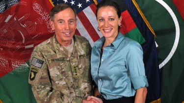 David Petraeus and Paula Broadwell, in a photo from the International Security Assistance Force.