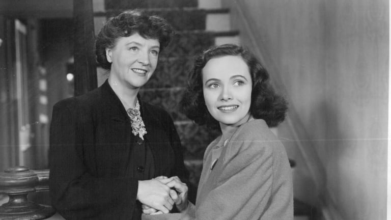 Patricia Collinge (left) as Emma Newton and Teresa Wright as her daughter Charlie in Alfred Hitchcock's Shadow of a Doubt (1943).