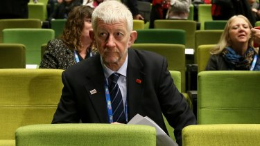 Joe de Bruyn, president of the SDA. He presided over many of the controversial wage deals with big business