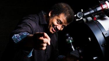 Neil deGrasse Tyson at the Sydney Observatory on Monday.