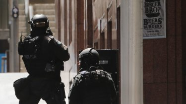 Police have evacuated the area around Martin Place in Sydney's CBD.