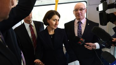 NSW Transport Minister Gladys Berejiklian will not confirm how far over budget the light rail line from the city to eastern suburbs will be.