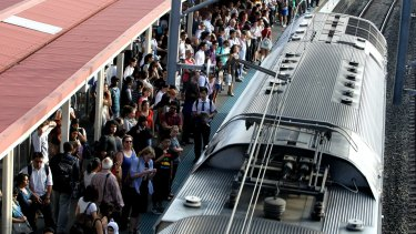 Trains stopping at Redfern Station on the Inner West Line had the worst levels of overcrowding in March.