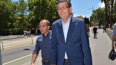 Premier-elect Daniel Andrews with his deputy James Merlino.
