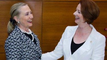Hillary Clinton and Julia Gillard plan to change perceptions of female leaders.