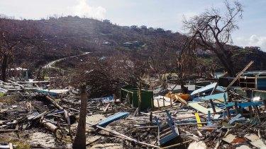 The devastation left by Hurricane Irma in Great Harbour, British Virgin Islands.