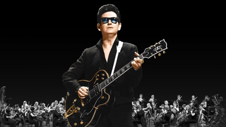 """The """"virtual"""" Roy Orbison, backed by an orchestra."""