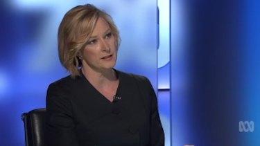 ABC interviewer Leigh Sales.