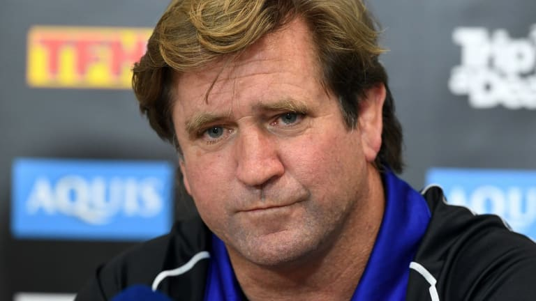 Family favourite: Des Hasler should find out whether he will continue to coach the Canterbury Bulldogs over the next fortnight.