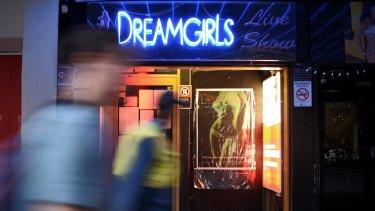 Closed down: DreamGirls in Kings Cross.