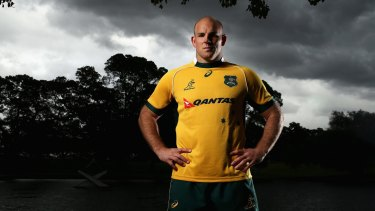 Leading from the front: Wallabies captain Stephen Moore.