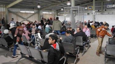 UNHCR refugee registration centre Amman.
