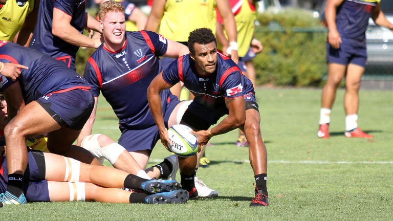 Boom recruit: Will Genia at Rebels training.