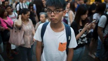 Student activist Joshua Wong Chi-fung.