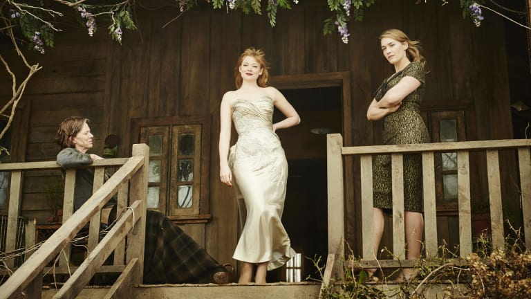 Judy Davis, Sarah Snook and Kate Winslet in <i>The Dressmaker</i>.