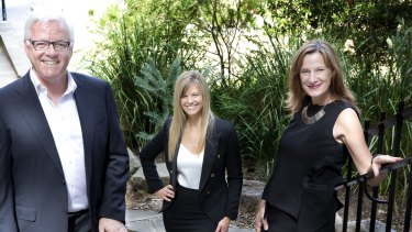OneVentures partners Paul Kelly, Michelle Deaker and Anne-Marie Birkill.