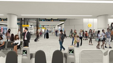 The new eastern concourse at Central Station will be 19 metres wide.