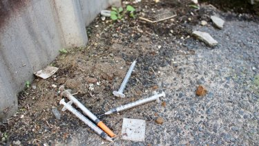 Some Richmond laneways are littered with drug paraphernalia.