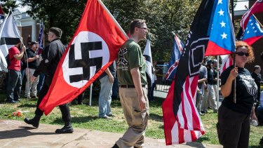 Nazi sympathisers in Charlottesville on August 12.