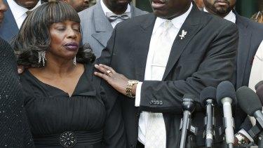 Victim Jannie Ligons addressed the media after the verdict.