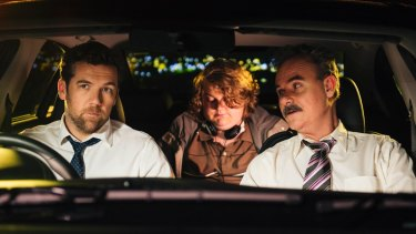 Patrick Brammall and Darren Gilshenan are cops on a stake-out in improv comedy <i>No Activity</i>.