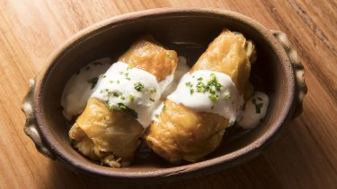 Le Lee's must-order sarma (cabbage rolls).