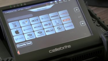 The Cellebrite system can extract data from a variety of phones.
