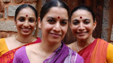 Ensemble members Surpupa Sen (middle), Bijayani Satpathy (right) and Pavithra Reddy (left).