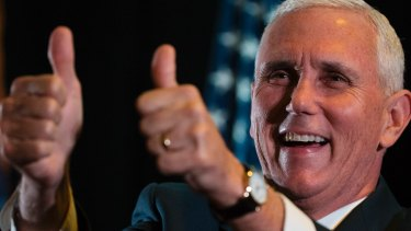Republican vice-presidential candidate Mike Pence.