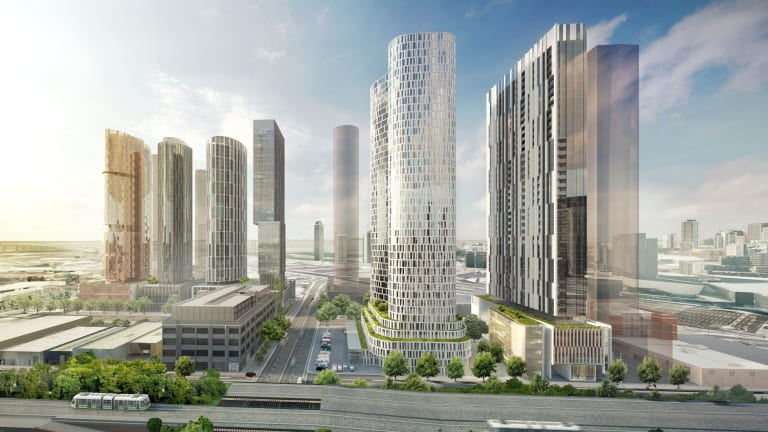 These six towers proposed for Fishermans Bend were submitted in a single planning application, by a syndicate of landowners.