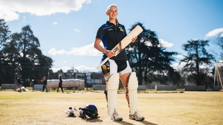 Maitlan Brown has used her 12-week injury lay-off to improve her batting.