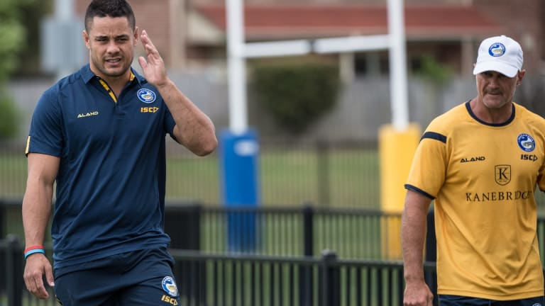 Jarryd Hayne brushed aside allegations of sexual assault during his first media conference with the Eels.