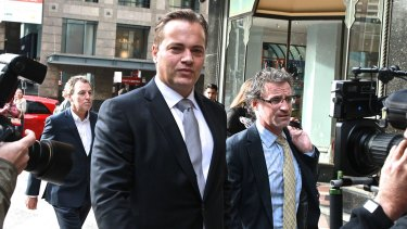 Avoided conviction: Mark Bosnich arrives  at Downing Centre Local Court.