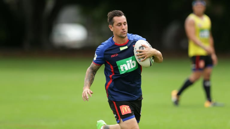 Up for the challenge: Mitchell Pearce.