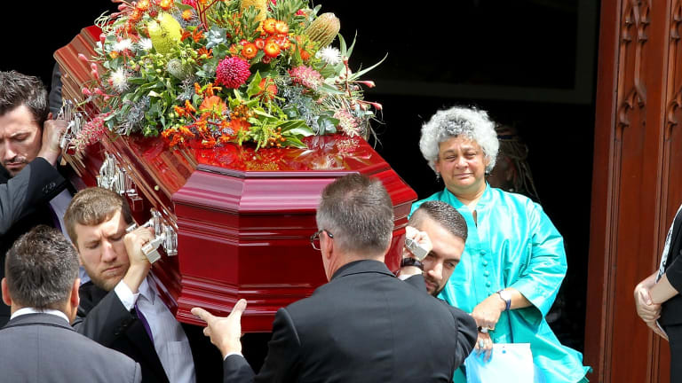 Bandler's daughter Dr Lilon Bandler at her mother's state funeral.