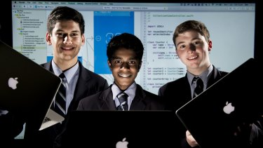 Canberra Grammar School students have bucked the national trend and excelled at IT, winning a scholarship to Apple.