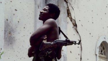 UNITA rebel soldier, Angola.