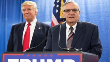 Donald Trump and Joe Arpaio during the presidential election campaign.