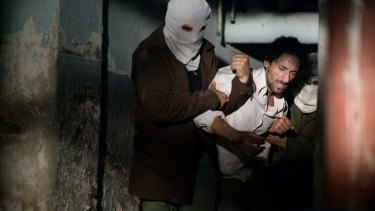 Brody (Isaac) is arrested and tortured.