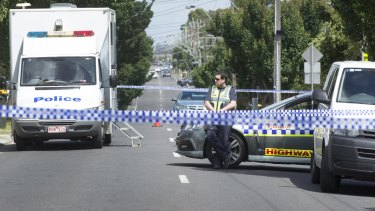 Police at the scene of the murder in Thomastown in 2015.
