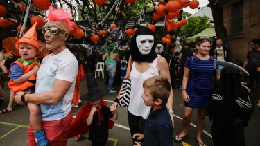 Locals flock to the Nicholson Street Public School Halloween fete in East Balmain.