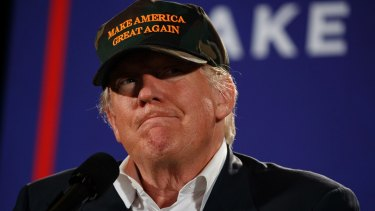 Republican presidential candidate Donald Trump in Pensacola, Florida.