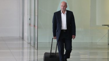 President of the Senate Stephen Parry at Canberra Airport