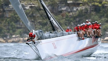 Wild Oats XI in the 2016 Big Boat Challenge, the traditional pre-Sydney To Hobart race.