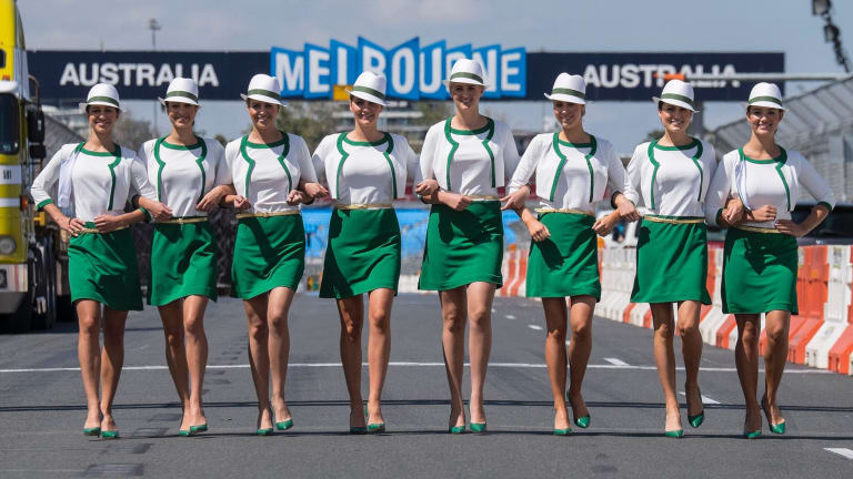 Gone girls: Grid girls will not feature in Formula One from the upcoming 2018 season.