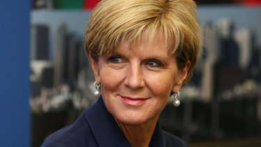 Supporting the PM: Julie Bishop.